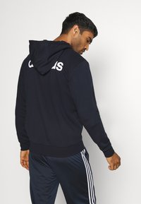 adidas Performance - ESSENTIALS SPORTS HOODED TRACK - Huvtröja med dragkedja - dark blue - 2