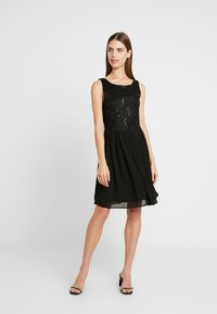 Vila - VIGINA DRESS - Cocktailkjole - black - 1