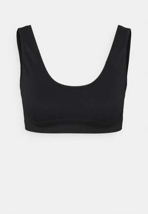 RIBBED BRA TOP - Sport BH - black