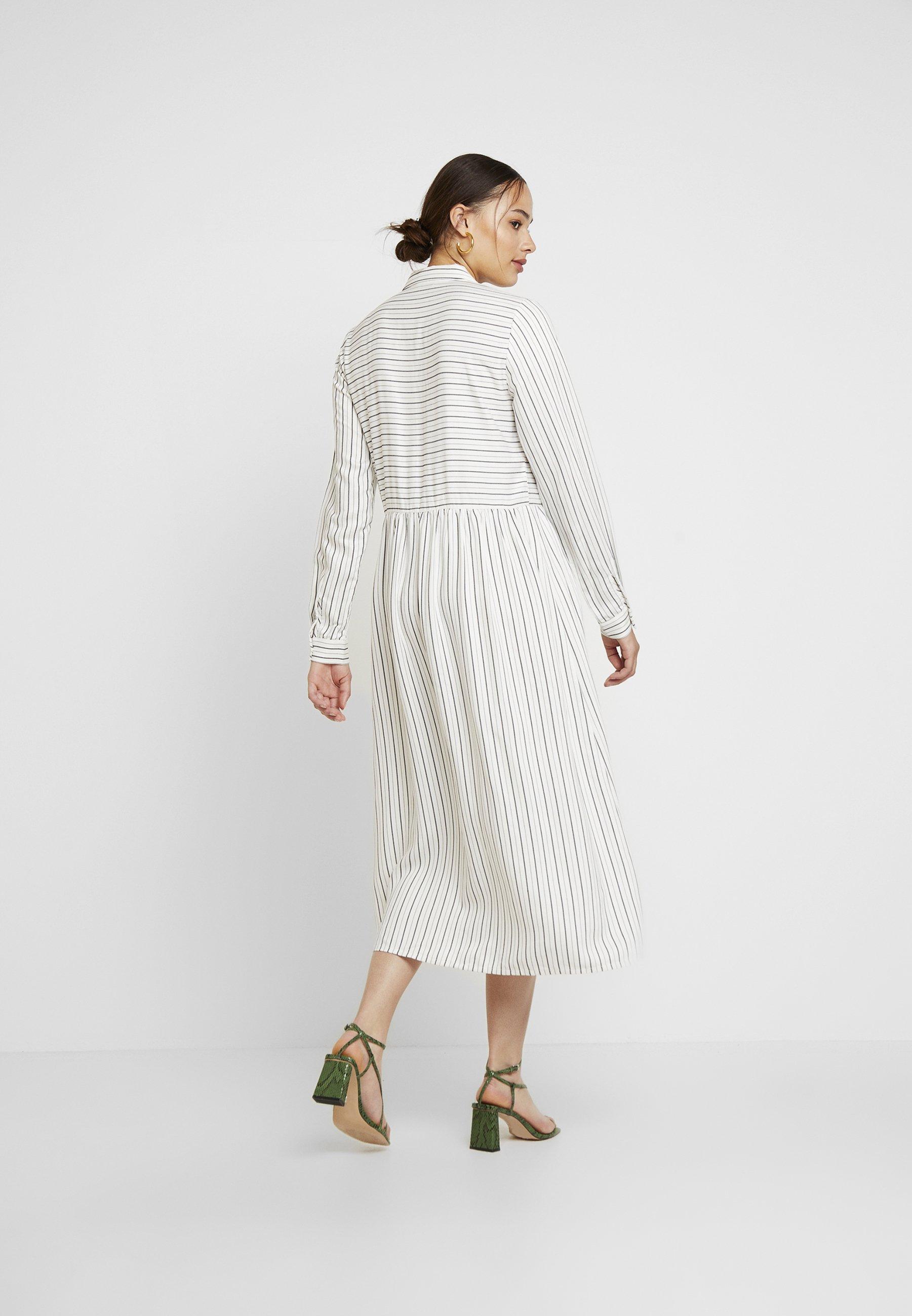 Envii ENHARRY DRESS - Skjortekjole - white/black