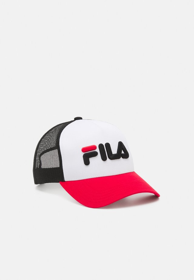 TRUCKER LINEAR LOGO SNAP BACK UNISEX - Kšiltovka - true red/bright white/black
