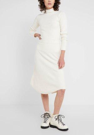 COROLLA - A-line skirt - white