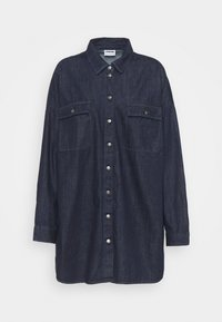 Noisy May Curve - NMFLANNY LONG SHACKET - Short coat - dark blue denim - 5
