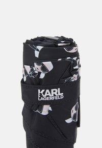 KARL LAGERFELD - IKONIK UMBRELLA - Deštník - black - 4