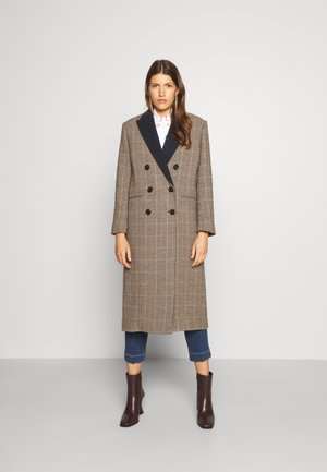CHAPLIN CHECK DOUBLE BREASTED COAT - Classic coat - brown/camel/rust/navy/green