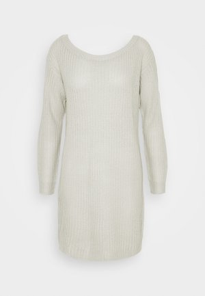 AYVAN OFF SHOULDER JUMPER DRESS - Strikket kjole - light grey