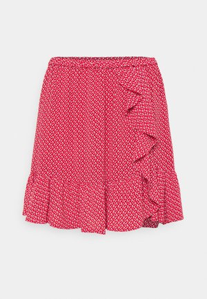 PRINTED SKIRT - Minisukně - crimson