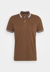 WORDING TIPPING - Polo shirt - brown oak