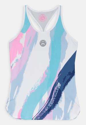 ADRIANA TECH TANK  - Top - white/aqua