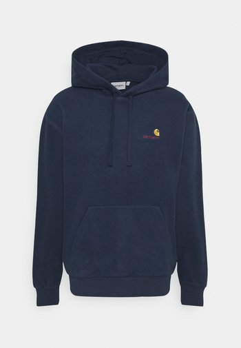 HOODED CONTRA  - Mikina - blue