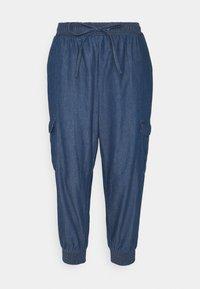 Kaffe - EARLENE CAPRI PANTS - Shorts - blue denim - 0