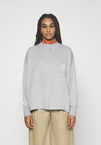 FEMME - Zip-up sweatshirt - grey heather/matte silver/white