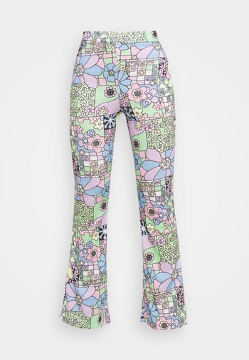 FLOWER POWER FLARE TROUSERS - Trousers - multi