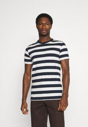 STRIPED - Print T-shirt - navy
