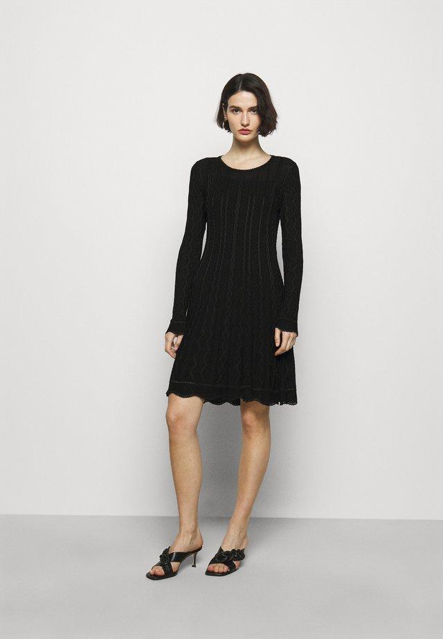 ABITO - Gebreide jurk - black