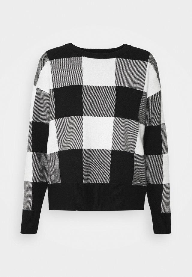 LEOPARD CREWNECK  - Sweter - black/ivory