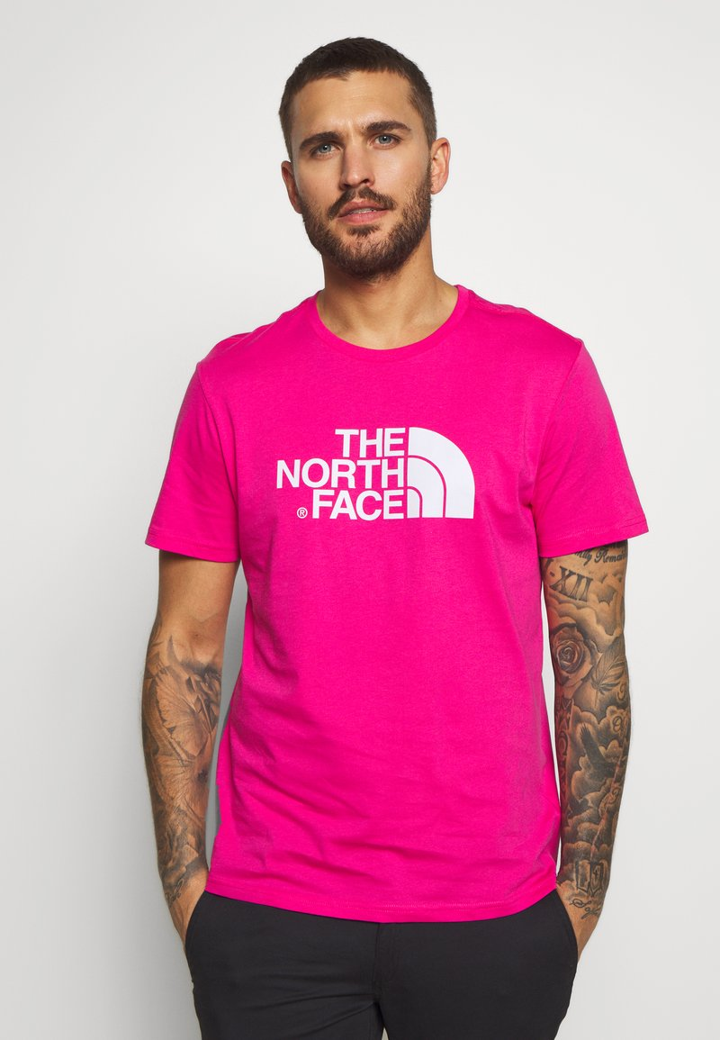 The North Face - M S/S EASY TEE - EU - T-shirt med print - mister pink