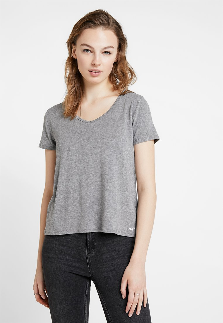 Hollister Co. - SHORT SLEEVE EASY TEE - Jednoduché triko - grey