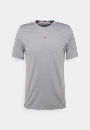 SHOULDER LOGO SLIM TRAINING TEE - T-shirt z nadrukiem - grey