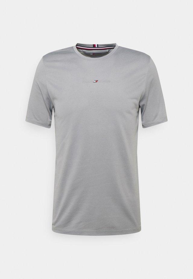 SHOULDER LOGO SLIM TRAINING TEE - T-shirt imprimé - grey
