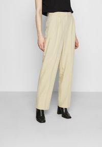 NA-KD - MATHILDE GØHLER SUIT PANTS - Trousers - beige - 0