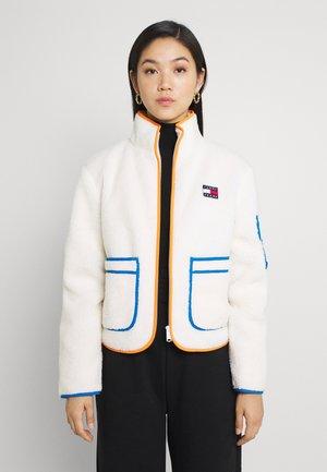 CONTRAST JACKET - Light jacket - white