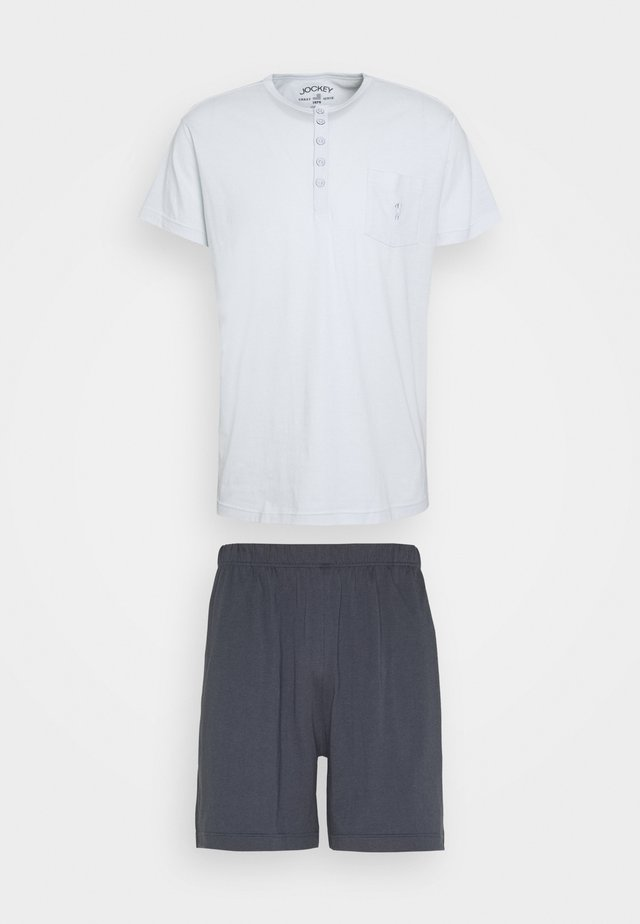 SET - Pyžamo - dark blue/mint