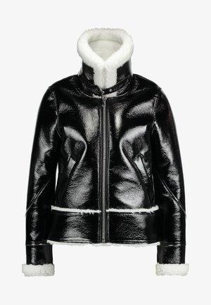 EASE - Faux leather jacket - disco black