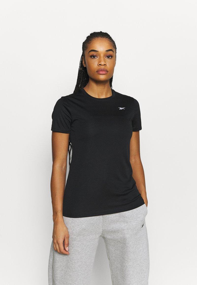 Reebok - RUN ESSENTIALS T-SHIRT - T-shirt de sport - black