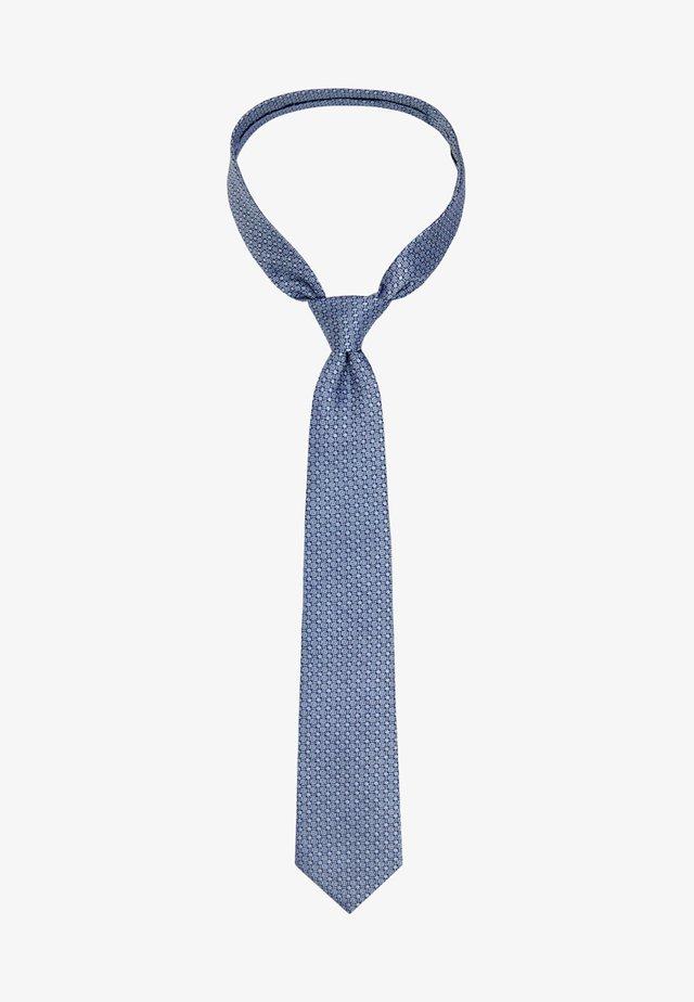 SLIM JACQUARD  - Tie - blue