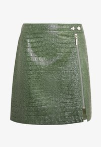 LOLA SKYE SIDE ZIP SKIRT - A-line skirt - green