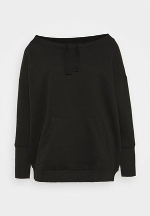 OFF THE SHOULDER - Sweatshirt - black