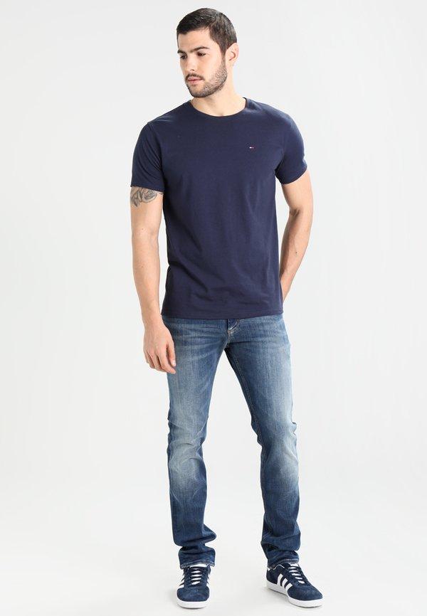 Tommy Jeans ORIGINAL TEE REGULAR FIT - T-shirt basic - black iris/granatowy Odzież Męska HLDC