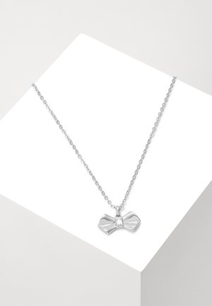 SARAHLI SOLITAIRE BOW PENDANT - Necklace - silver-coloured