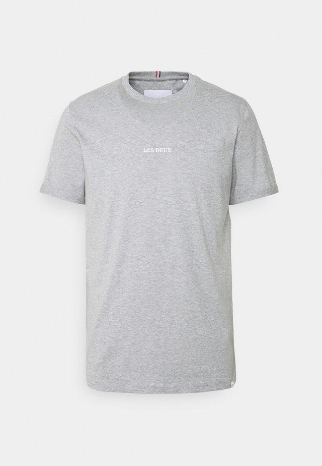 LENS - T-shirt print - light grey melange/white