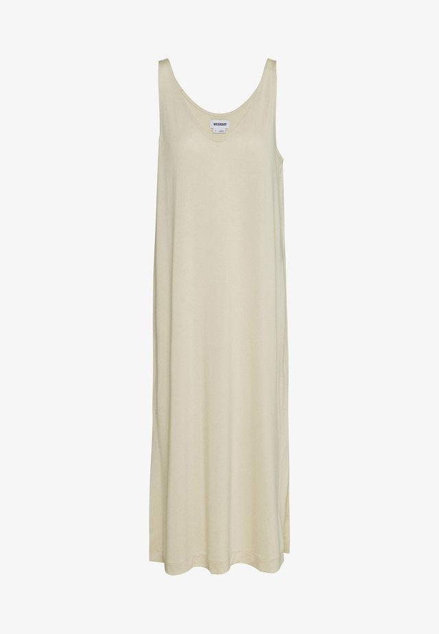 ABBY DRESS - Maxi dress - light beige