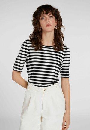 T-shirt print - white black
