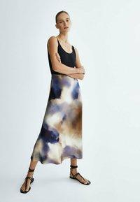 Massimo Dutti - A-line skirt - dark blue - 0
