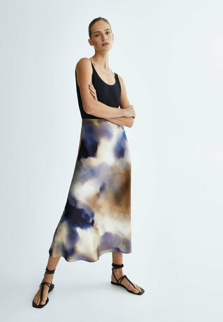 Massimo Dutti - A-line skirt - dark blue