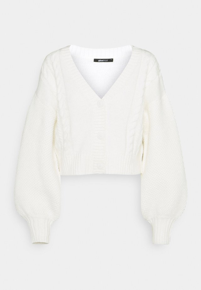 CALLIE CARDIGAN - Kardigan - warm white