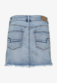 American Eagle - HI RISE MINI SKIRT - Farkkuhame - medium destroy - 1