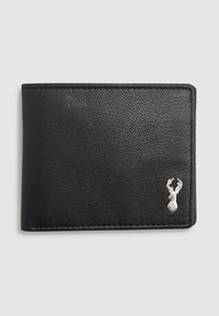 Next - BLACK LEATHER STAG BADGE EXTRA CAPACITY WALLET - Wallet - black - 0