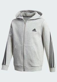 adidas Performance - 3-STREIFEN DOUBLEKNIT KAPUZENJACKE - Zip-up hoodie - grey - 2