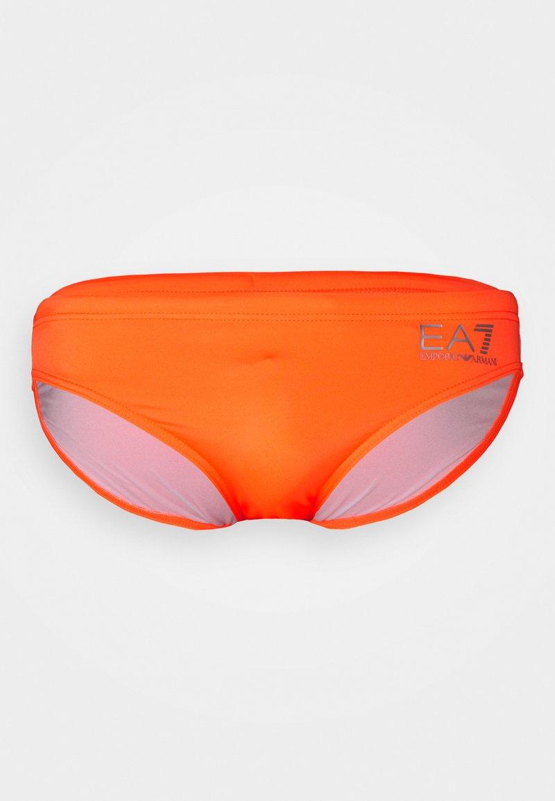 EA7 Emporio Armani - SEA WORLD CORE LOW BRIEF - Costume da bagno - arancio fluo/silver