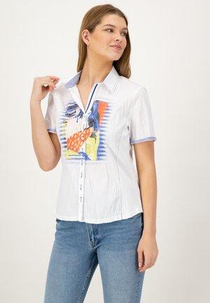 1/2 ARM - Button-down blouse - weiss uni