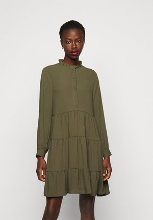 VMZIGGA FRILL - Shirt dress - ivy green