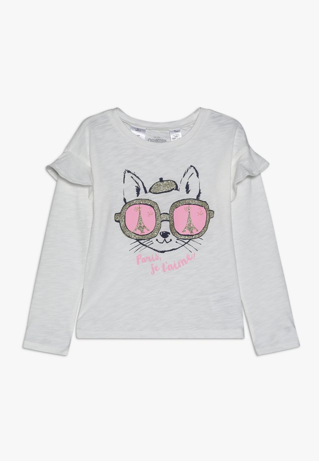 KIDS DROP SHOULDER RUFFLE SLEEVE - Bluzka z długim rękawem - white