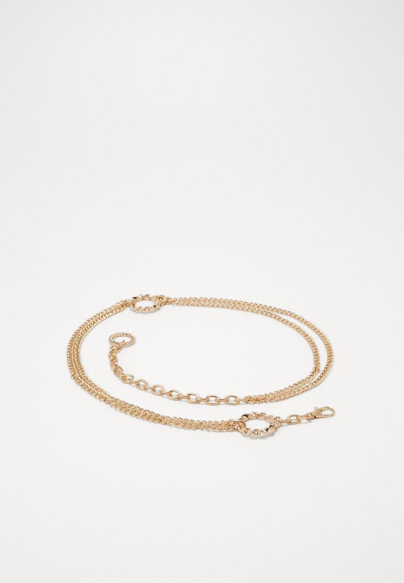 Gina Tricot - NELLA CHAIN BELT - Belt - gold-coloured