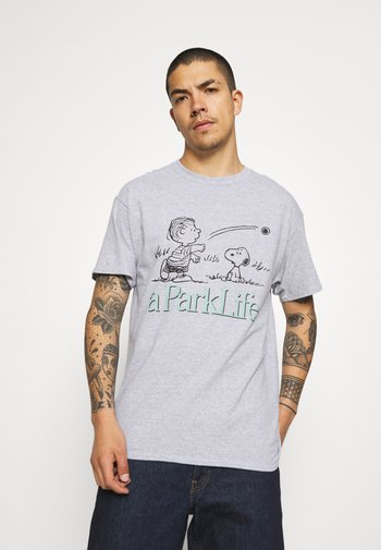 CHARLIE GRAPHIC TEE - Print T-shirt - grey
