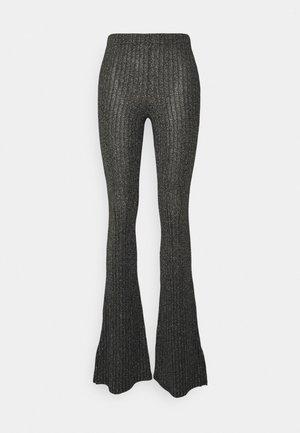 GLITTER FLARE - Kalhoty - black